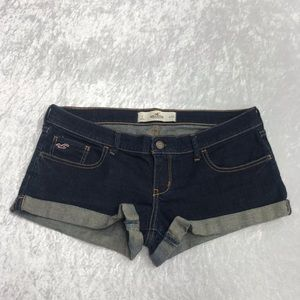 Hollister Ladies Dark Wash Denim Jean Shorts